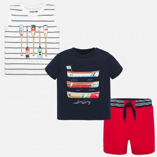 Stripe T-Shirt and Shorts Set - Navy